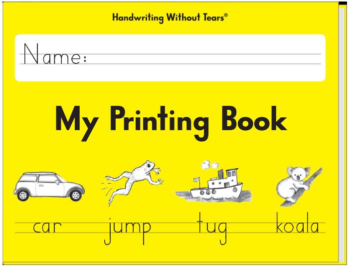 Printable Handwriting Book Cover : My printing book grade shop at smarts